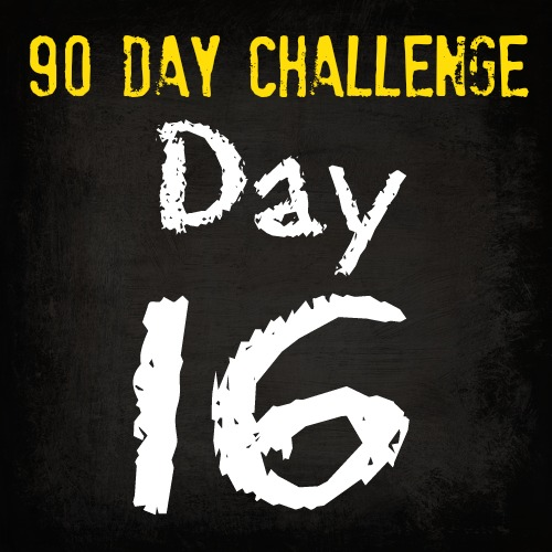 90 Day Fitness Challenge- DAY 16