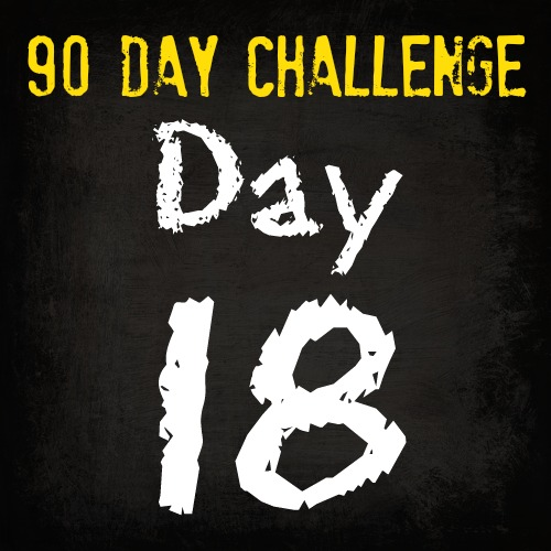 90 Day Fitness Challenge- DAY 18